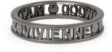 Vivienne Westwood Sterling Silver Westminster Ring -Gunmetal Size L