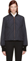 See by Chloe Navy Quilted Bomber Jacket