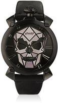 GaGa MILANO Bionic Skull Black Steel Watch