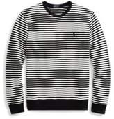 Ralph Lauren Striped Cotton Terry Pullover Nevis/Polo Black Xl