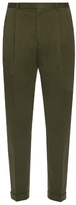Paul Smith Pleated-front cotton trousers