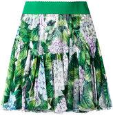 Dolce & Gabbana hydrangea print pleated skort - women - Silk/Spandex/Elastane - 40