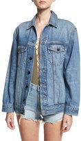 Alexander Wang Daze Oversized Denim Jacket, Light Blue