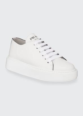 Prada Leather Flatform Sneakers