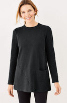 J. Jill Pure Jill Soft-Touch Cotton Seamed Tunic