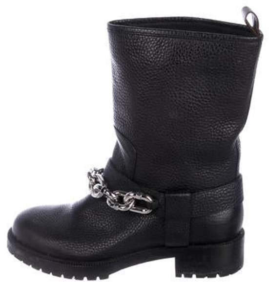 1483e501765 Chain-Link Ankle Boots Black Chain-Link Ankle Boots