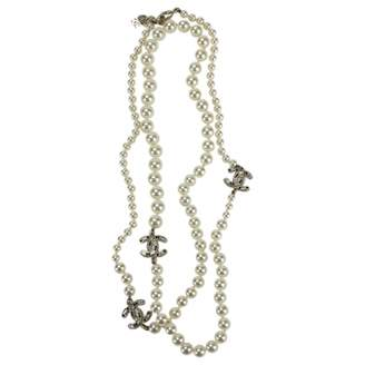 Chanel White Metal Necklace