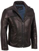 Wilsons Leather Mens Stand Up Collar Leather Scuba Jacket 2XL Black