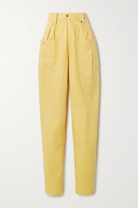 Isabel Marant Yerris Cotton Tapered Pants - Yellow