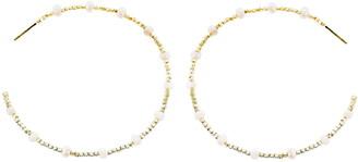 Panacea Crystal Bead Hoop Earrings