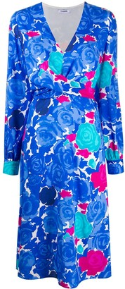 P.A.R.O.S.H. Abstract Floral-Print Dress