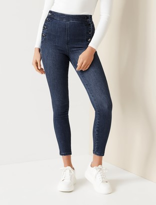 Forever New Sasha High-Rise Ankle Grazer Jeans - Helsinki Blue - 10