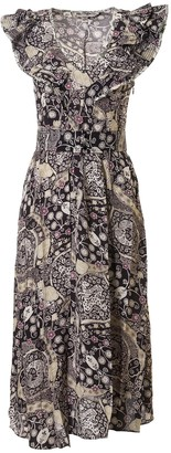 Isabel Marant Sleeveless Ruffled Detail Long Dress