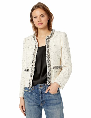Rebecca Taylor Women's Fringe Tweed Jacket