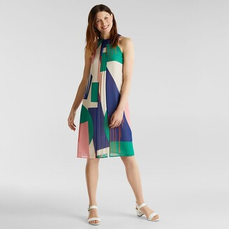 Esprit Sleeveless Printed Midi Dress