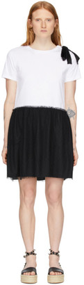 RED Valentino Black Jersey Ballet Dress