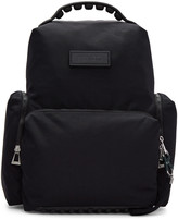 Kenzo Black Nylon Solid Backpack