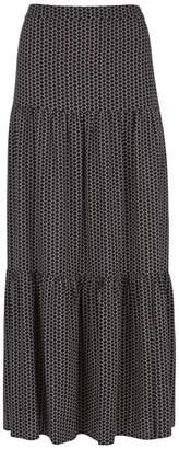 Mint Velvet Nola Print Boho Maxi Skirt