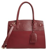 Sole Society Ladylike Faux Leather Satchel - Burgundy
