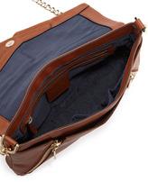 Pour La Victoire Nouveau Leather Clutch Bag, Coffee