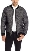 Calvin Klein Men's Heather Wool Bomber Jacket