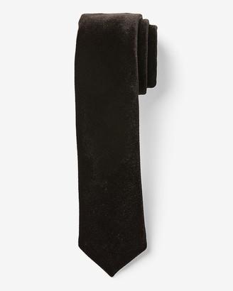 Express Narrow Velvet Black Tie