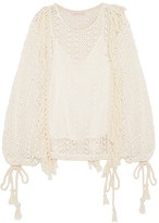 See by Chloe Tasseled Macramé Top - Off-white