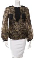 Mackage Silk Button-Up Top