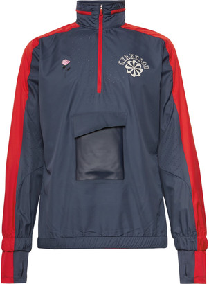 Nike X Undercover + Gyakusou Nrg Logo-Print Shell Half-Zip Hooded Jacket