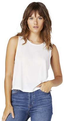 Beyond Yoga Boyfriend Jersey Aquarius Tank (White) Women's Clothing