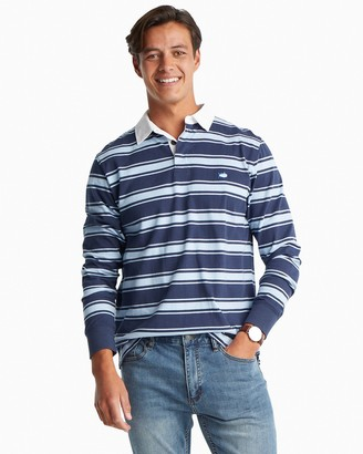 Southern Tide Rugby Striped Long Sleeve Polo Shirt