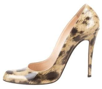 Christian Louboutin Printed Patent Leather Pumps