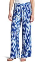 Vince Camuto Women's Variegated Abstract Wide Leg Pant