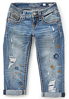 Miss Me Girls Big Girls 7-16 Destroyed Patch Cuffed Capri Jeans