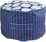 Lelbys Kids Bean Bags Freckles n Stripes Kids Bean Ottoman Cover, Navy and White