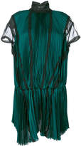 Sacai micro pleat drop waist dress
