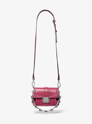 Michael Kors Crawford Mini Leather Crossbody Bag - Mauve