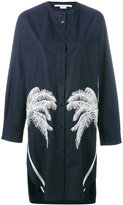 Stella McCartney palm tree embroidered shirt dress - women - Cotton/Polyester/Viscose - 40