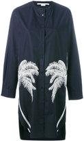 Stella McCartney palm tree embroidered shirt dress - women - Cotton/Polyester/Viscose - 42