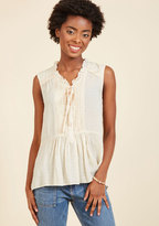 ModCloth Favor-Intensive Sleeveless Top in XS