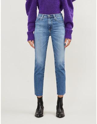 AG Jeans Isabelle straight-leg high-rise stretch-denim jeans