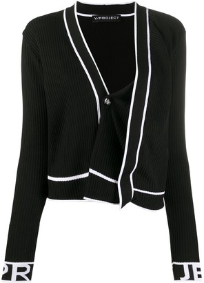 Y/Project Asymmetric Ribbed Knit Cardigan