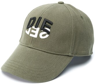 Diesel C-Dive two-tone logo print cap