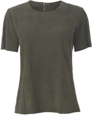 Ellesd Khaki Suede T-Shirt