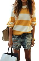 Excess Baggage Women's Gap's Distressed Dallas BoyFriend Ripped Low Rise Cut-Off Shorts-M