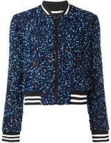Alice + Olivia Alice+Olivia sequin embroidery cropped bomber jacket