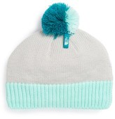 The North Face Girl's Knit Pom Beanie - Grey