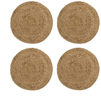 Elrene Everyday Casual Braided Jute Round Placemat - Set of 4