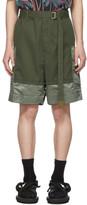 Sacai Khaki Combo Shorts