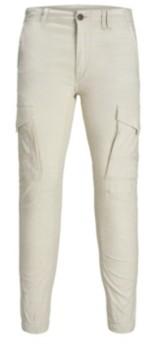 Jack and Jones Men'S Linen Cargo Jogger Pants